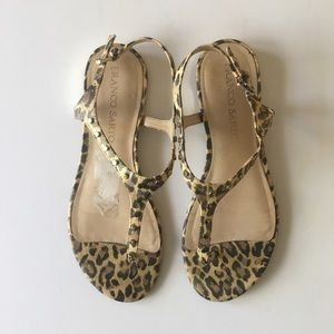 Franco Sarto animal print sandals, size 7.5